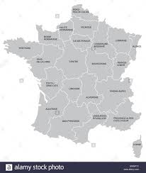 province france vectorial map of france with provinces no gradients and blends stock