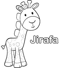 imagenes de jirafas bebes animadas para colorear con su nombre para pintar