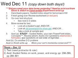 thurs nov 21 forces test asst guided notes pages ppt download
