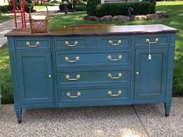 Chalk Paint Furniture Images by Sold Deep Blue Chalk Painted Dresser Buffet Credenza With