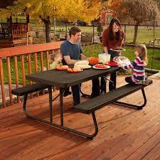 Lifetime 6 Folding Table Awesome Lifetime 6 Folding Picnic Table 48 On Simple Home