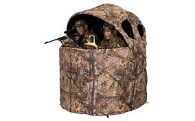 tent chair ameristep 1rx2c029 deluxe 2 person tent chair blind in realtree