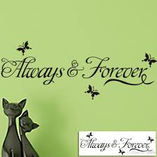 Wall Art Home Decor Always Forever Lettering Wall Decals Art Home Decor Black