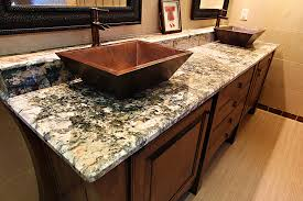 bathroom countertop raleigh silver travertine transitional