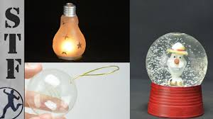 3 diy decorations made from light bulbs
