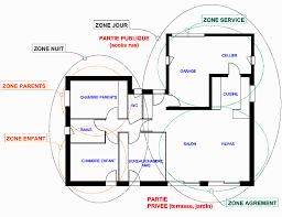 surface d une chambre plan de maison agencement du plan pieces et zones d une maison