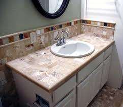 Bathroom Countertops Ideas Beautiful Tile Bathroom Countertop Ideas Dkbzaweb