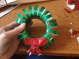 easy christmas craft for kids make your own mini wreath hang the