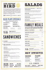 Backyard Restaurant Menu Menu For Spring Chicken 2400 N Federal Highway