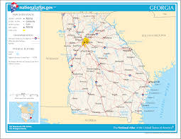 Georgia travel information images Map of georgia general map online maps and png