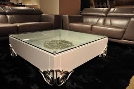 emma white lacquer modern coffee table