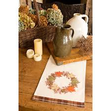 Fall Table Runners by Decorating Maple Wreath Fall Table Runner For Table Decoration Idea