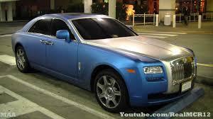 matte blue bentley matte blue wrap rolls royce ghost youtube