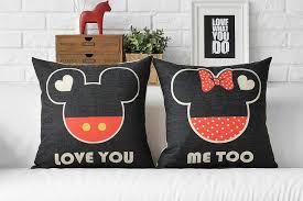 mickey mouse chair covers mickey mouse pillows cases linen cushion covers