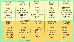 adjectives in sentences adjective and noun grammar writing exercises