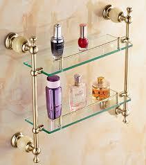 regale für badezimmer versandkosten badezimmer glasablage jade kupfer vergoldet