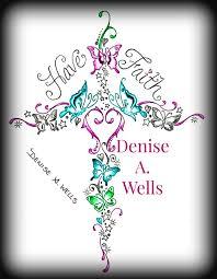 faith butterfly cross design by a