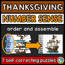 thanksgiving day activities kindergarten number sense center tpt