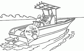 real speed boat coloring page for kids transportation coloring