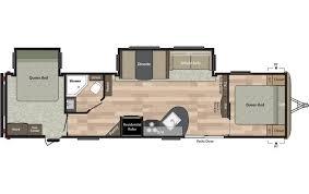 Keystone Rv Floor Plans 2018 Keystone Rv Springdale 38fq Double Queen Travel Trailer