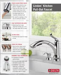 Kitchen Faucet With Spray Delta Linden Single Handle Pull Out Sprayer Kitchen Faucet With