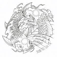 koi fish yin yang designs