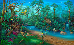 Wall Scenes by Wall Art Decor Painting Maui Rainforest Wall Art Painting