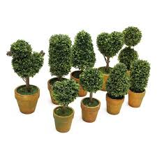 fake trees for home decor artificial garden grass buxus balls boxwood elegance topiary