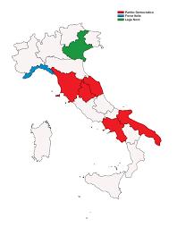 Italy Regions Map by Italian Regional Elections 2015 Wikipedia