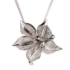 diamond flower necklace images 1 79 ct diamond flower necklace 18k white gold jpg