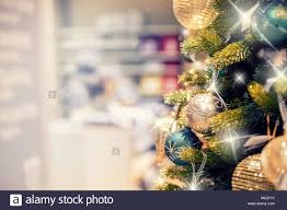 christmas tree clearance christmas tree with gold decoration in shopping mall christmas stock