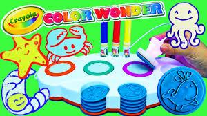 crayola color wonder mess free light up stamper art set under the