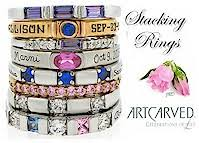 engraved stackable mothers rings mothers rings and family rings custom s rings family