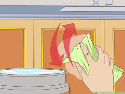 how to clean sticky greasy cabinets 3 ways to clean greasy kitchen cabinets wikihow