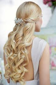 long up styles for weddings half updos for long wedding
