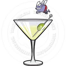 martini glasses clipart cartoon fly martini diver by ron leishman toon vectors eps 10752