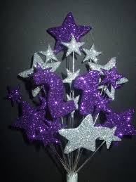 number age 21st birthday cake topper decoration in purple u0026 silver