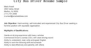 Truck Driver Resume Example Resume Sample Bus Driver Position Resume Ixiplay Free Resume Samples