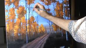 paint aspen trees timelapse high sd acrylic canvas color layering method how to