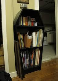 coffin bookshelf mina burrows creepy bookshelf ideas