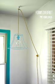 Pendant Light Wire Wire L Shade Pendant Light With Twisted Fabric Wrapped Cord