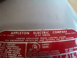 appleton explosion proof lighting fixtures appleton a 51 series vented wall mount explosion weather proof