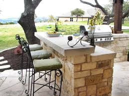 Small Metal Patio Table by Small Outdoor Kitchen Ideas Pictures U0026 Tips From Hgtv Hgtv