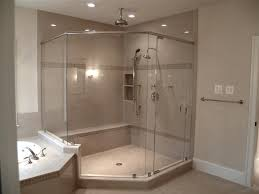 Corner Shower Glass Doors Corner Shower With Glass Doors Home Design Plan