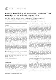 business opportunity of freshwater ornamental fish a