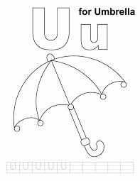 printable umbrella kids coloring