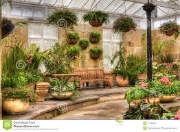 Interior Garden Scenic Indoor Garden Area Stock Image Image 17120761