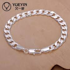 silver plated bracelet charms images Charm bracelets link chain silver plated bracelet for women men jpg