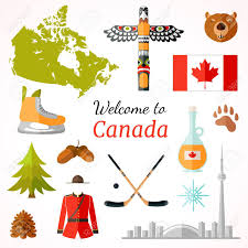 travel symbols images Travel banner with famous canadian symbols culture element icons jpg
