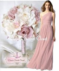 bridesmaid dresses uk dusky pink one shoulder chiffon maxi bridesmaid dress